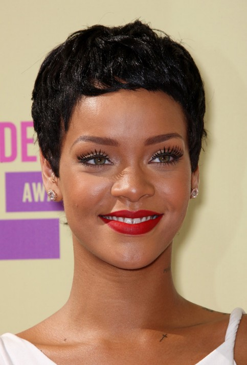 Picture of rihanna black boy cut for women getty images