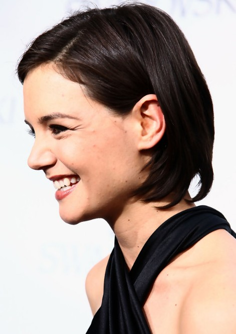 Side View of Katie Holmes Bob Haircut