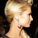 Side View of Paris Hilton Loose Side Ponytail