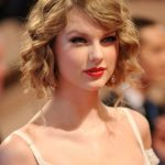 Taylor Swift Cute Curly Updo Hairstyle