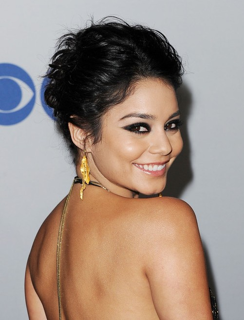 Vanessa Hudgens Casual Updo Hairstyles