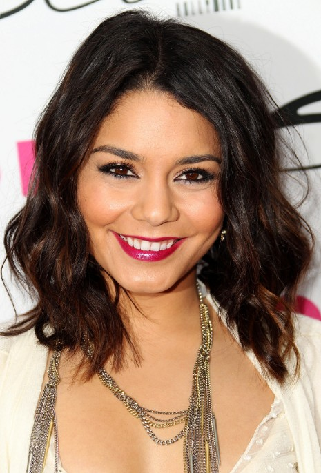 Picture of Vanessa Hudgens Medium Curly Hairstyles /Getty Images ...
