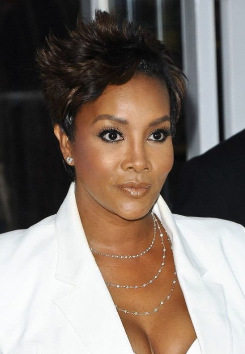Pleasing Vivica A Fox Short Hairstyle Spiky Razor Cut Hairstyles Weekly Short Hairstyles Gunalazisus