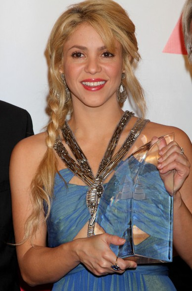 Shakira Long Braided Hairstyle 2012