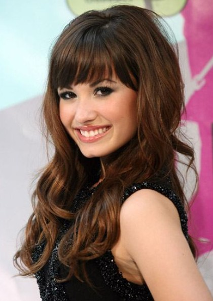 2012 long curly hairstyles with bangs
