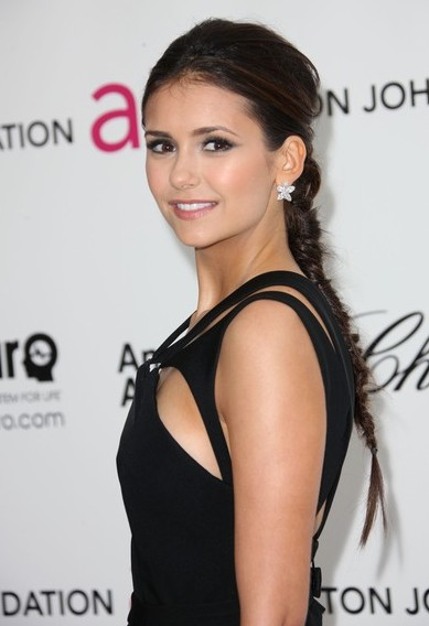 Nina Dobrev Long Braided Hairstyle