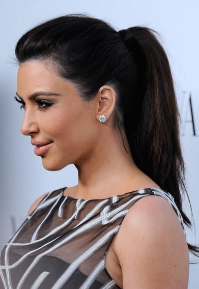 Kim Kardashian Ponytail