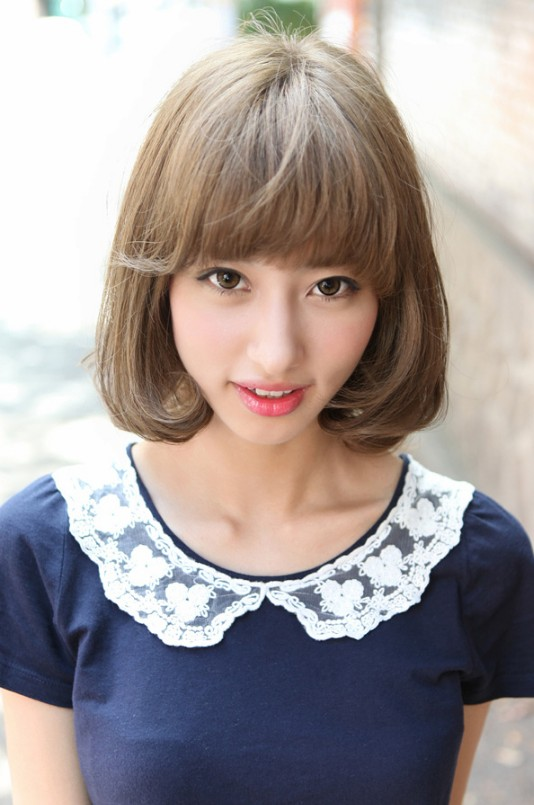 cute japanese bob hairstyle for women short asian bob hairstyle