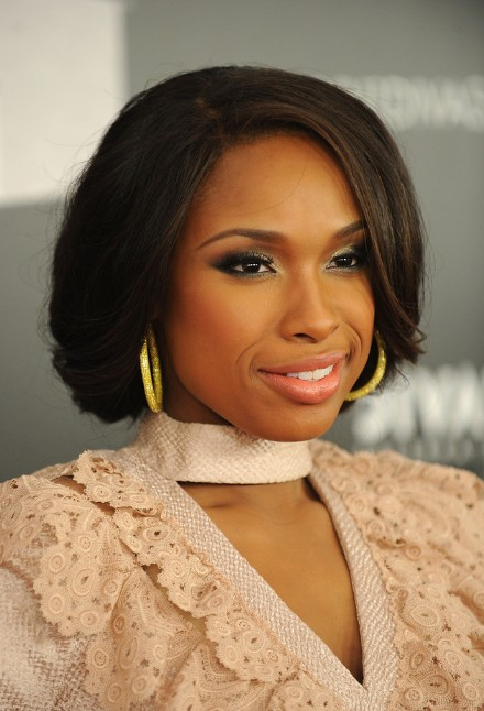 Jennifer Hudson sports a chic faux bob hairstyle. She wore her hair in