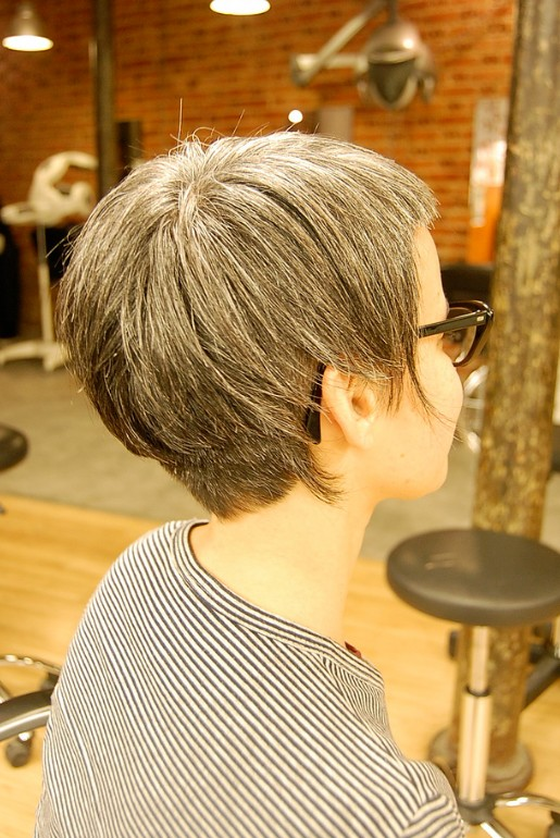 Back View of Asymmetrical Bob Hairstyle