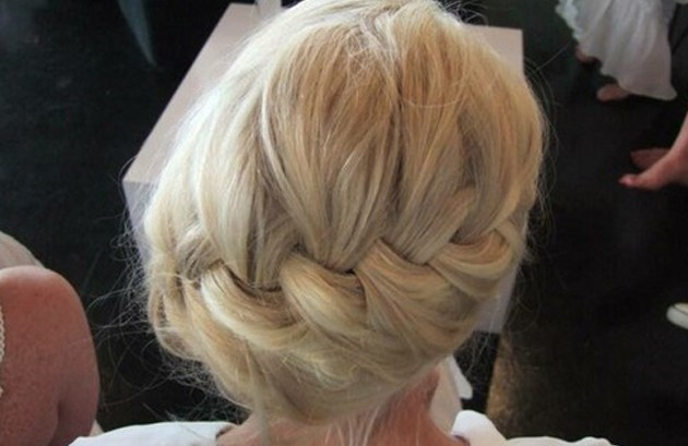 Back View of French Braid Hairstyle