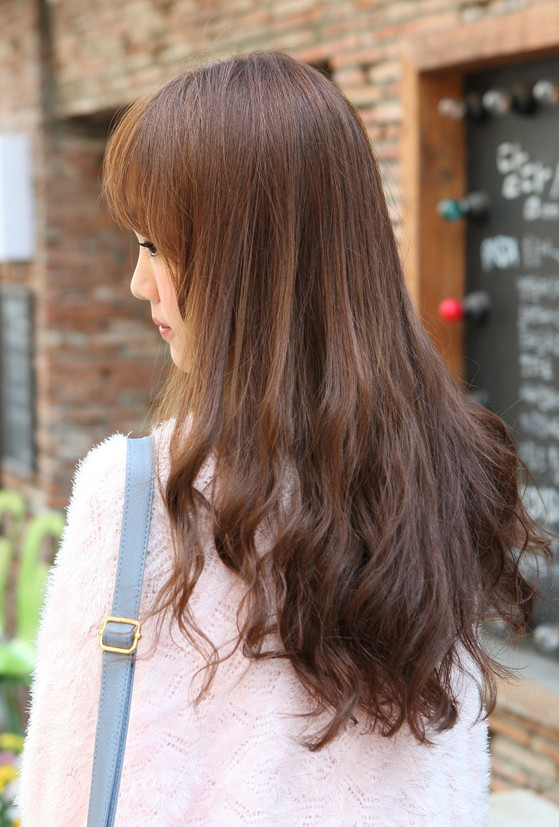 Fabulous Back View Of Korean Long Hairstyle Hairstyles Weekly Short Hairstyles For Black Women Fulllsitofus
