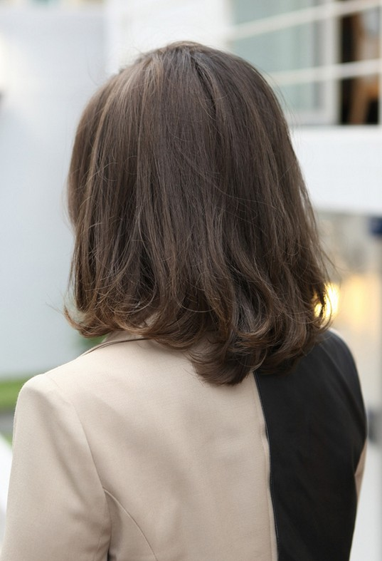 Tremendous Back View Of Short Dark Hairstyle Hairstyles Weekly Short Hairstyles Gunalazisus
