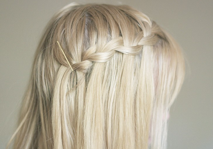 Beautiful Waterfall Braid for Long Hair