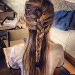 Casual Feminine French Braid for Long Hair