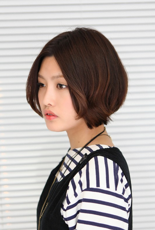 Cute Asian Bob Hairstyle for Women