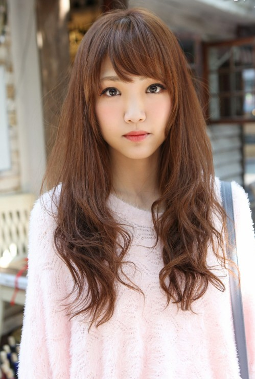 Cute Asian Long Hairstyle with Bangs - Hairstyles Weekly