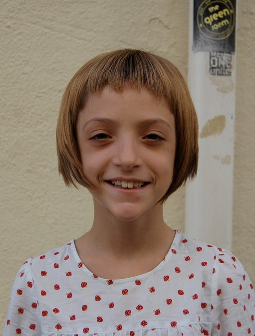 """Sugar & Spice"" Girl s Geometric Bob Hairstyle for Girls"