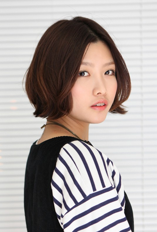 Cute Korean Bob Hairstyle