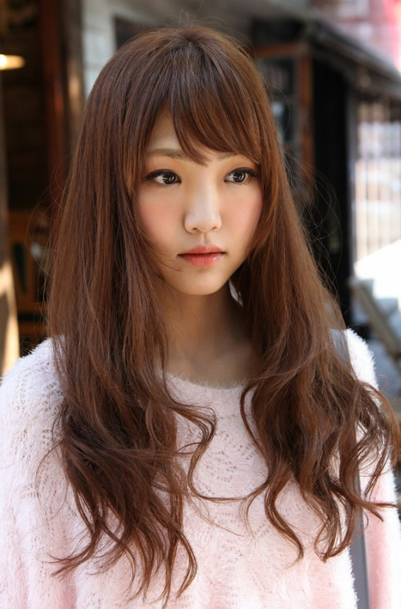 Cute Korean Girls Long Hairstyle