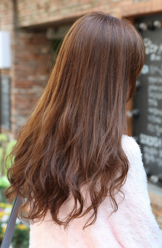 Remarkable Cute Korean Hairstyle For Girls Long Brown Hair With Bangs Hairstyles For Women Draintrainus