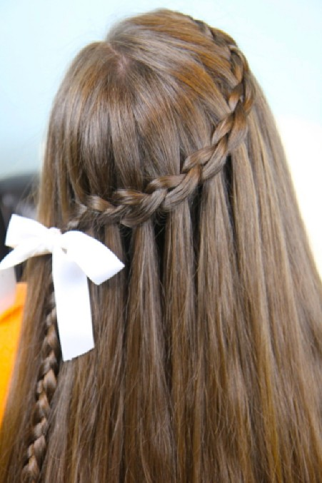 The Waterfall Braid is one of the hottest new hairstyle at present, a ...