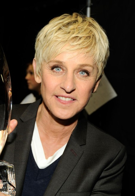 Ellen DeGeneres Short Boyish Haircut for Women Over 50