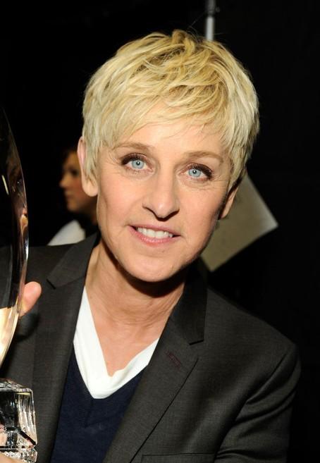 Ellen Degeneres Short Haircut Hairstyle For Busy Women