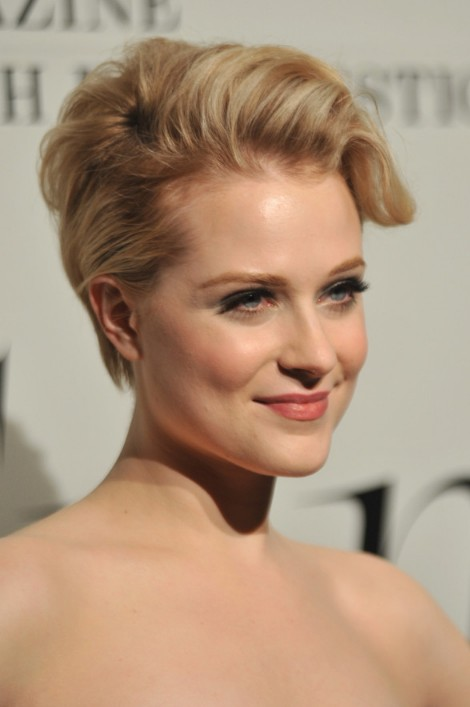 Evan Rachel Wood Layered Short Blonde Hairstyle