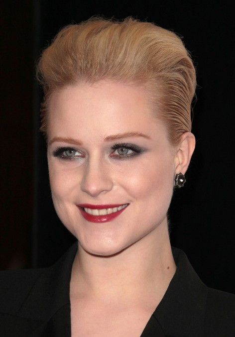 Pleasing Evan Rachel Wood Short Hairstyle Elegant Slicked Back Bob Cut Short Hairstyles Gunalazisus