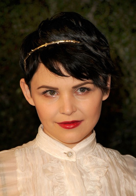 Ginnifer Goodwin Short Haircut with Side Swept Bangs
