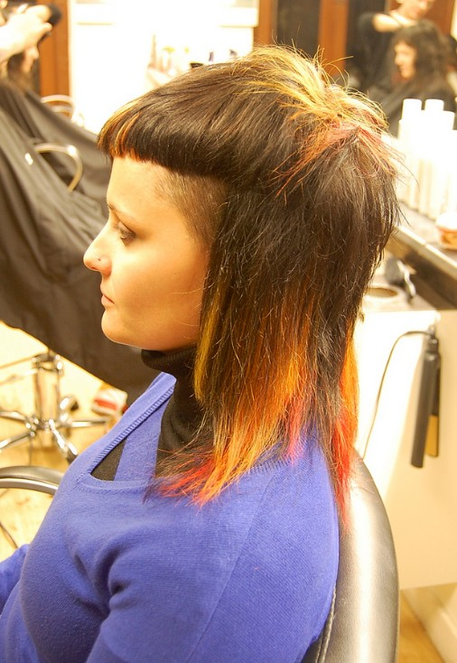 Dope Haircut Designs For Girls With bright colors hairstyleHaircut Designs For Girls
