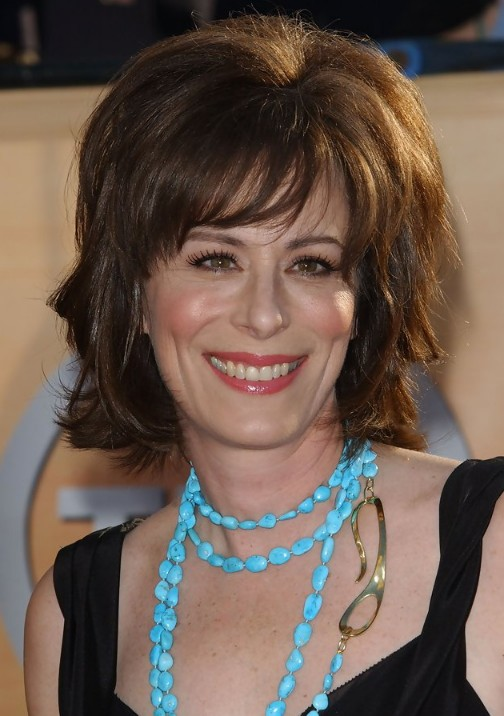 of Jane Kaczmarek Layered Hairstyle with Bangs for Women Over 50 ...