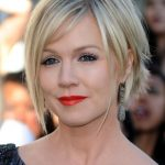 Jennie Garth Messy Shaggy Hairstyle with Bangs