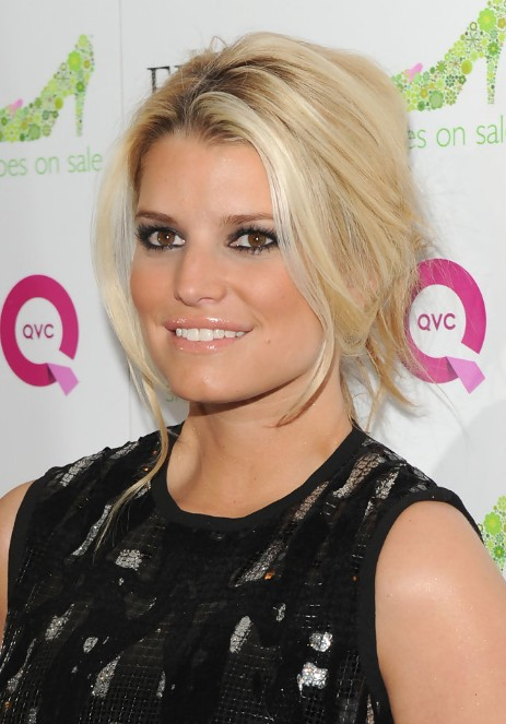 Jessica Simpson French Twist Updo