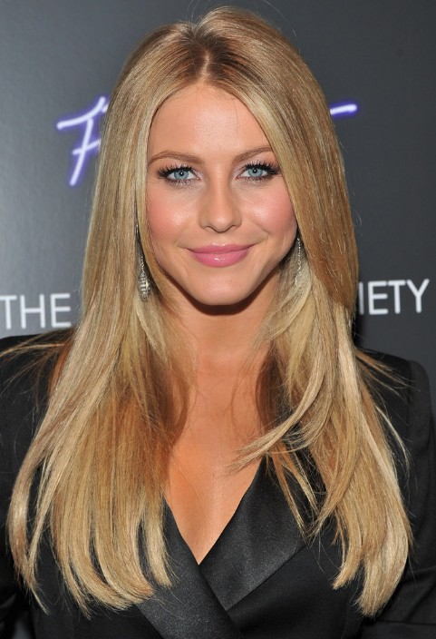 Julianne Hough Long Straight Layered Hairstyle