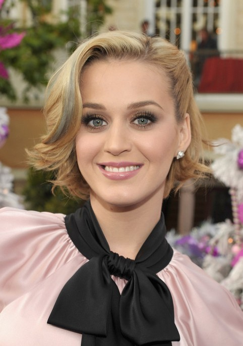 Katy Perry Pinned Back Bob Hairstyles Weekly