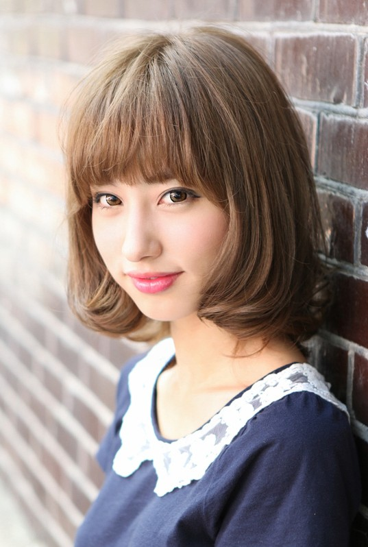 short asian hair style flirty fringed bob feminine amp curvy hairstyles weekly 1922 | Kawaii Japanese Bob Hairstyle with Bangs