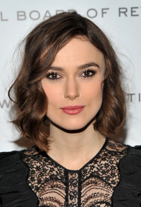 keira knightley hairstyles: adorable bob with mussed spiral curls