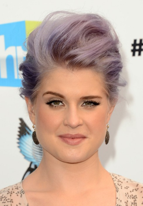 Kelly Osbourne Pompadour Updo Hairstyle