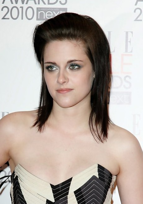 Kristen Stewart Edgy Medium Layered Hairstyle
