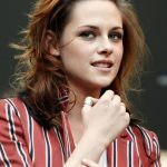 Kristen Stewart Long Hairstyle with Red Highlights