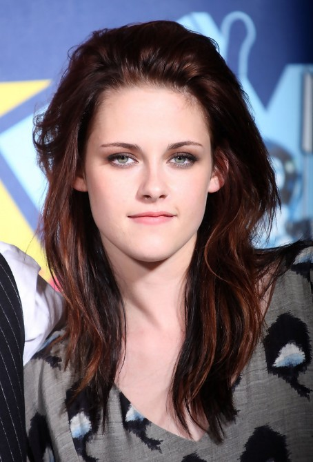 Kristen Stewart Long Red Hairstyle for Women
