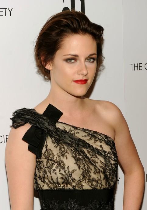 Kristen Stewart Red Carpet Loose Bun Updo