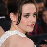 Kristen Stewart Messy Updo with Bangs