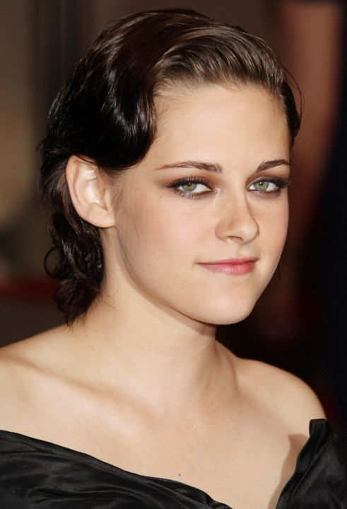 Kristen Stewart Sleek Finger Wave Hairstyle