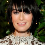 Lena Headey Choppy Layered Short Black Bob Hairstyle