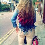 Long Luxurious Tresses with Bold Funky Colors