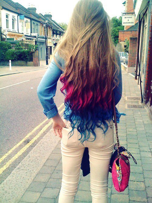 Long Luxurious Tresses With Bold Funky Colors Hairstyles Weekly