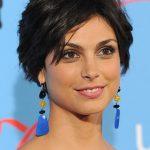 Morena Baccarin Layered Short Black Razor Cut with Bangs 2013